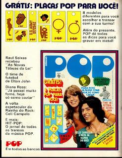 propaganda Revista Pop - 1974.  os anos 70; propaganda na década de 70; Brazil in the 70s, história anos 70; Oswaldo Hernandez;