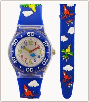 montre bleu pour jeune enfant