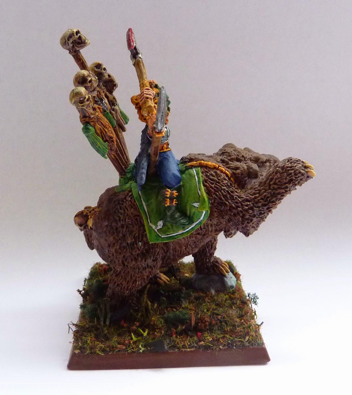 Wood Elf Great Stag conversion, using Tsar Boris of Kislev's Bear