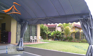 Our client have requested to setup a Halfmoon with the size of 20'x20' and the setup was took place at nilai. The purpose on the canopy will be to park their car.  #halfmoon #halfmooncanopy‬ ‪#‎canopy‬‬ ‪#‎tent #nilai #carpark #carparkcanopy‬