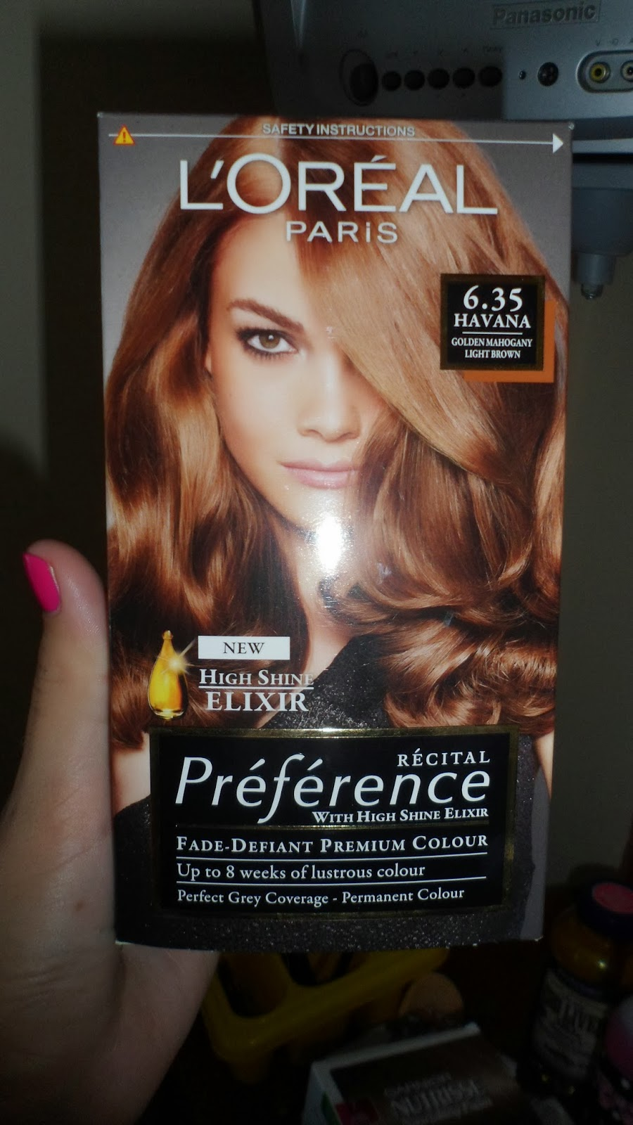 Loreal Preference Havana Light Golden Mahogany Brown 635  Dark Brown Hairs