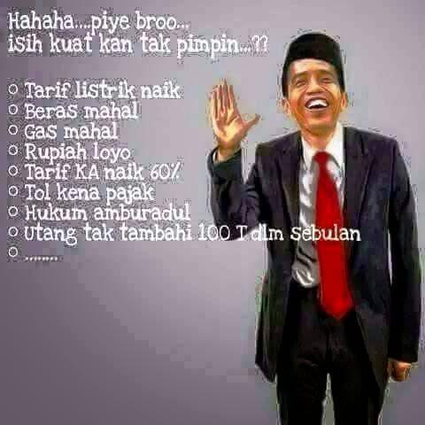 Meme Presiden Jokowi: Masih Kuat Saya Pimpin?