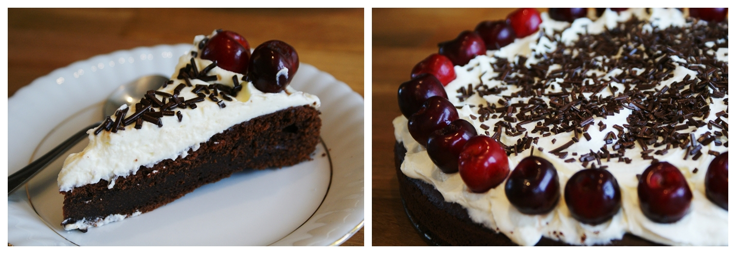 ICanCook: Ciasto / Tort czekoladowy z kremem i wiśniami.