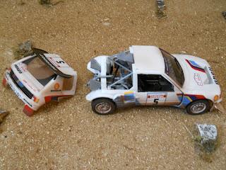 coche Peugeot 205 en miniatura