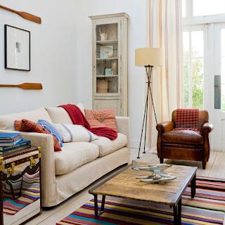 Sala de estar simples de estilo Inglês