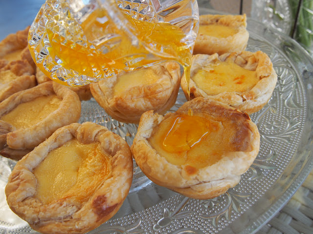 2 versions of portuguese egg tarts