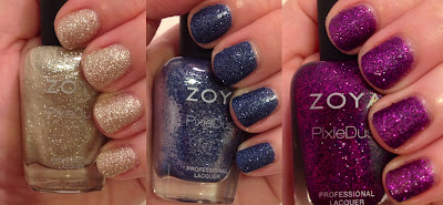 Zoya, Zoya Fall 2013 PixieDust Collection, Zoya Tomoko, Zoya Carter, Zoya Sunshine, textured nail polish, nail art, nail polish, nail varnish, nail lacquer, manicure, mani monday, #manimonday, nails
