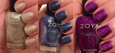 Zoya, Zoya Fall 2013 PixieDust Collection, Zoya Tomoko, Zoya Carter, Zoya Sunshine, textured nail polish, nail art, nail polish, nail varnish, nail lacquer, manicure, mani monday, #manimonday, nails
