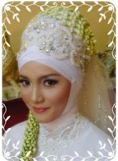 hijab pengantin tutorial