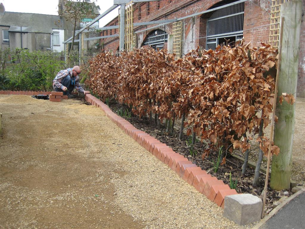 How To Install Garden Edging Photograph Installing New Bri