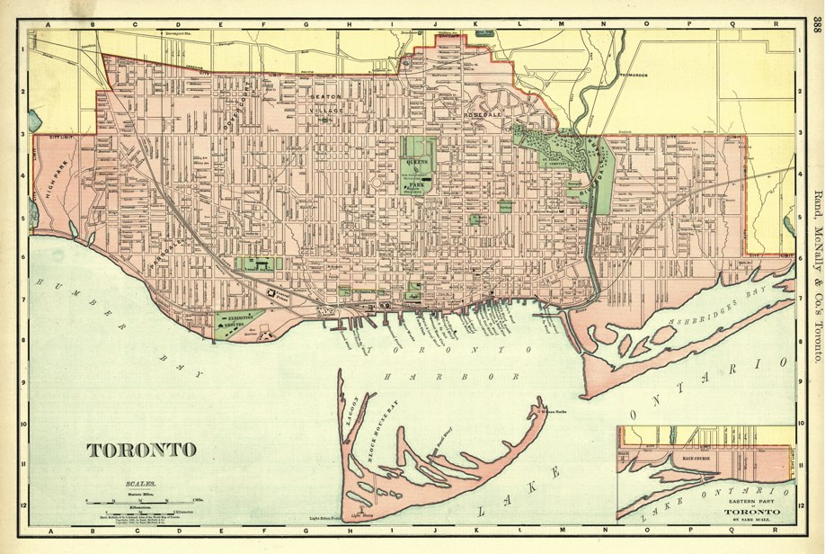 1901 Rand McNally Map of Toronto