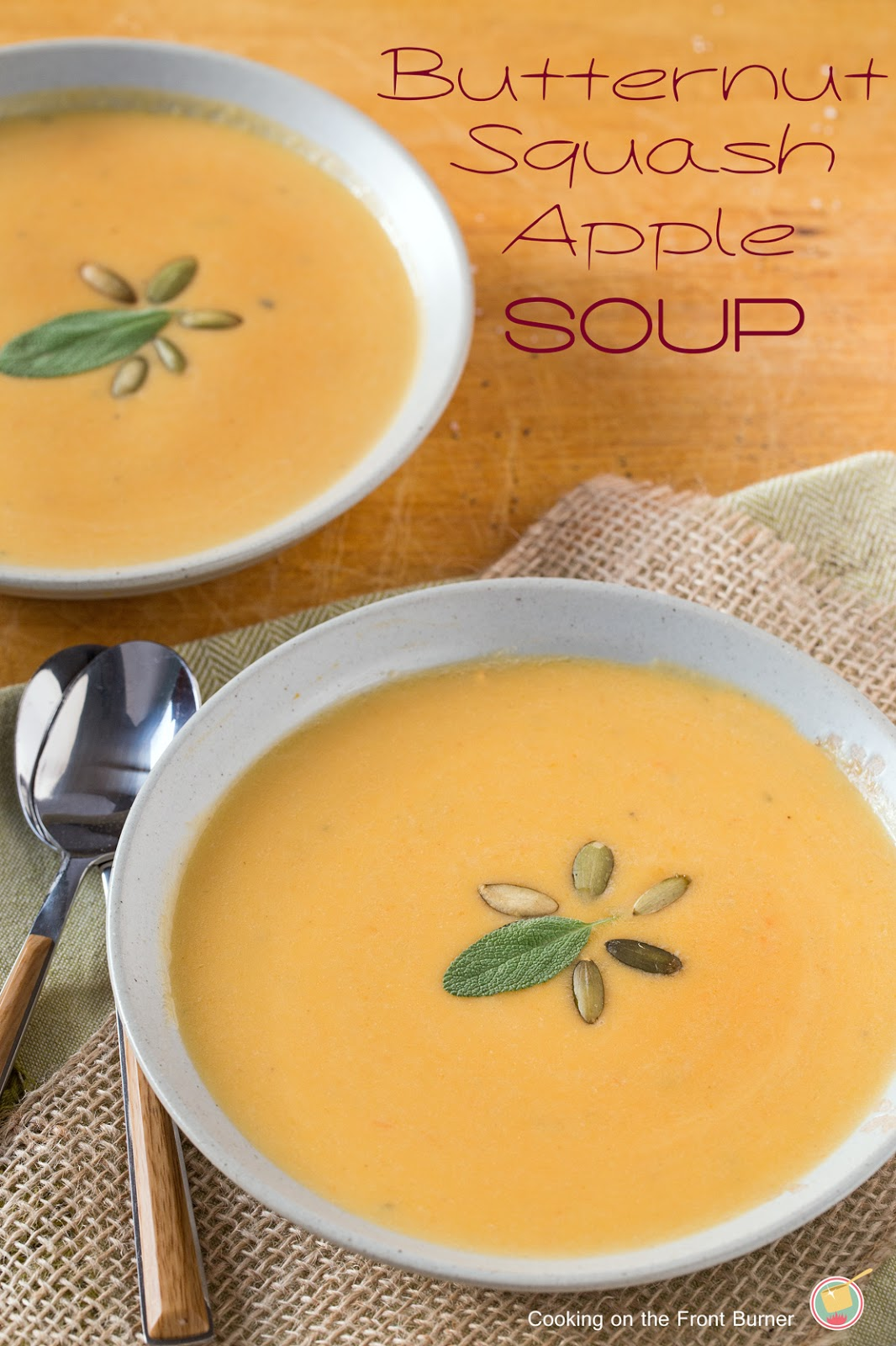 Butternut Squash Apple Soup | Cooking on the Front Burner