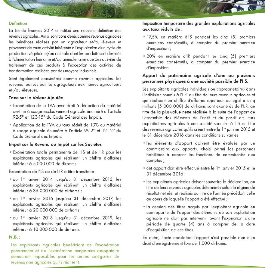 fiscalit u00e9 des exploitations agricoles