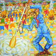 Fogo e Festa. Acrílica de Ivan Marinho