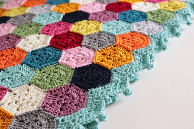 free crochet pattern join as you go hexagon blanket
