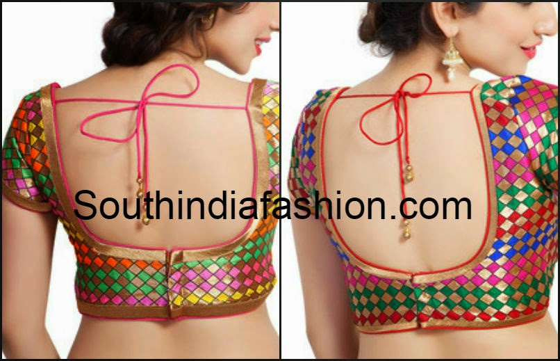 multicolor readymade blouse