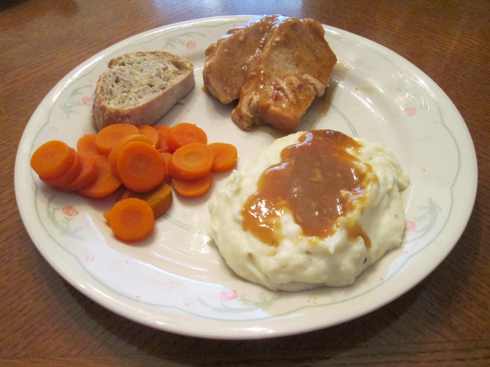 Diab2cook White Turkey Gravy W Mashed Potatoes And Sliced Carrots
