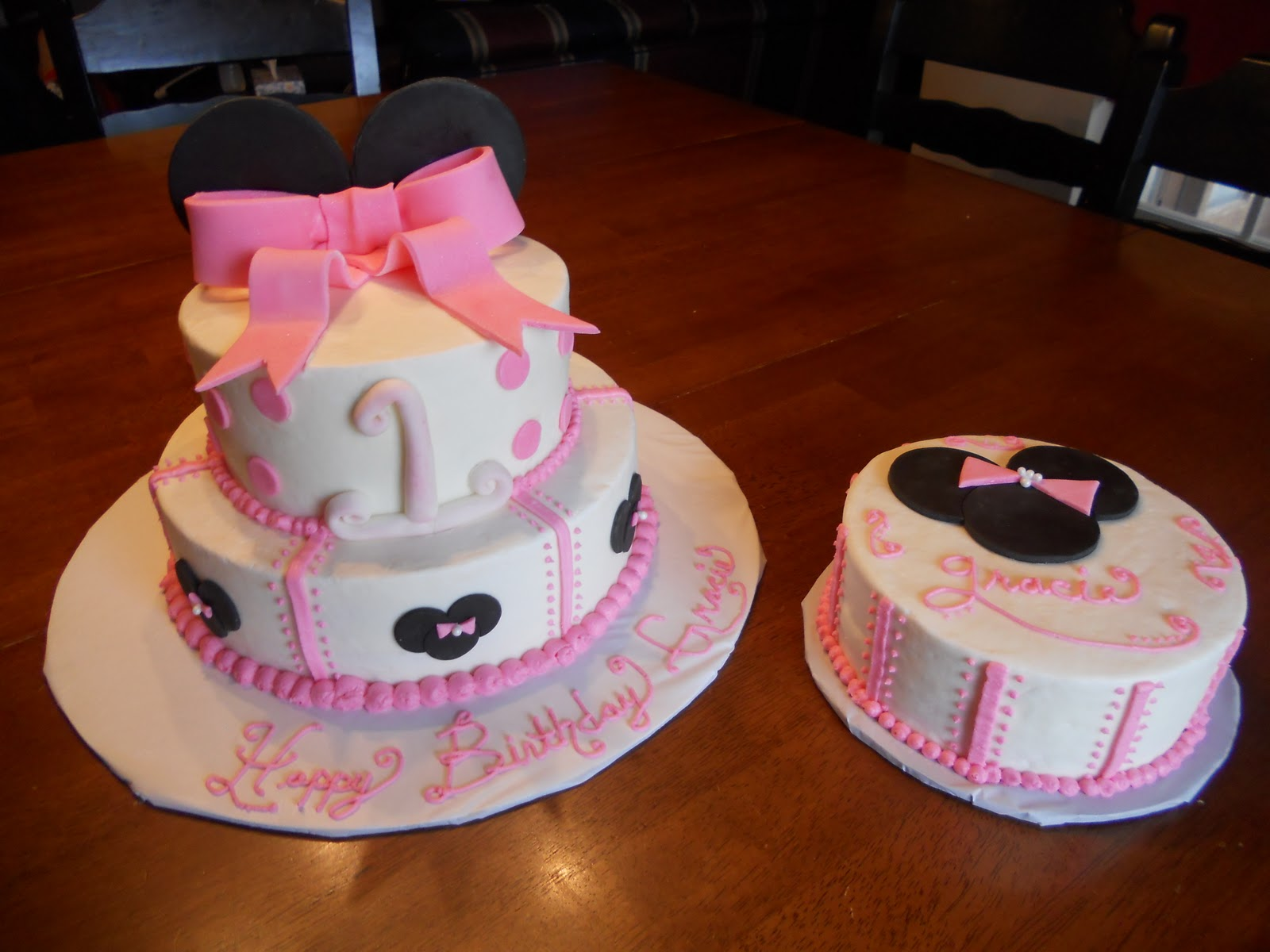 Treat Dreams Minnie Mouse 1st Birthday Cake
