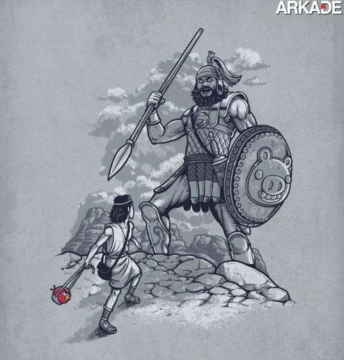angry-birds-494x517 [Humor] Adivinha quem realmente detonou Golias?