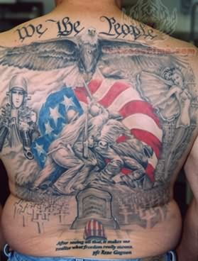 Awesome Patriotic Tattoos (15+ Pictures)