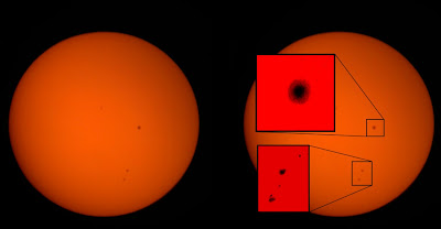 Sunspots 2418 and 2415 9-18-15