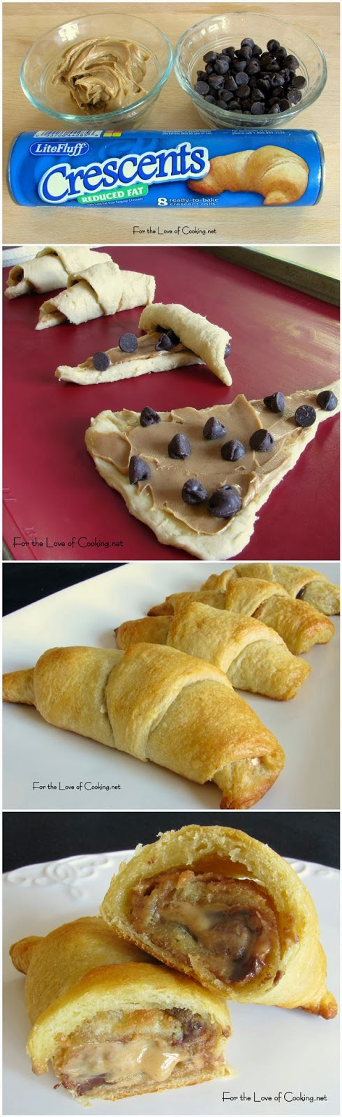 Crescent Rolls With Chocolate Chips And Peanut Butter