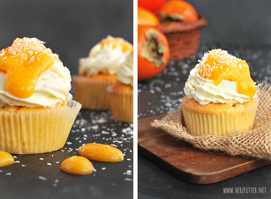Kuchen mit Kaki
