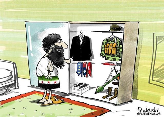 كاريكاتير ..يعنى ايه المعارضة المعتدلة فى سوريا