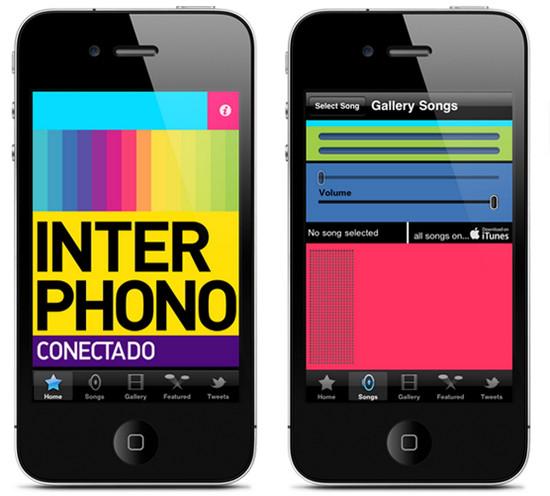 Interphono music app for listening songs