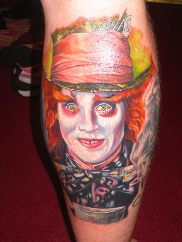 Mad Hatter Depp Tattoo