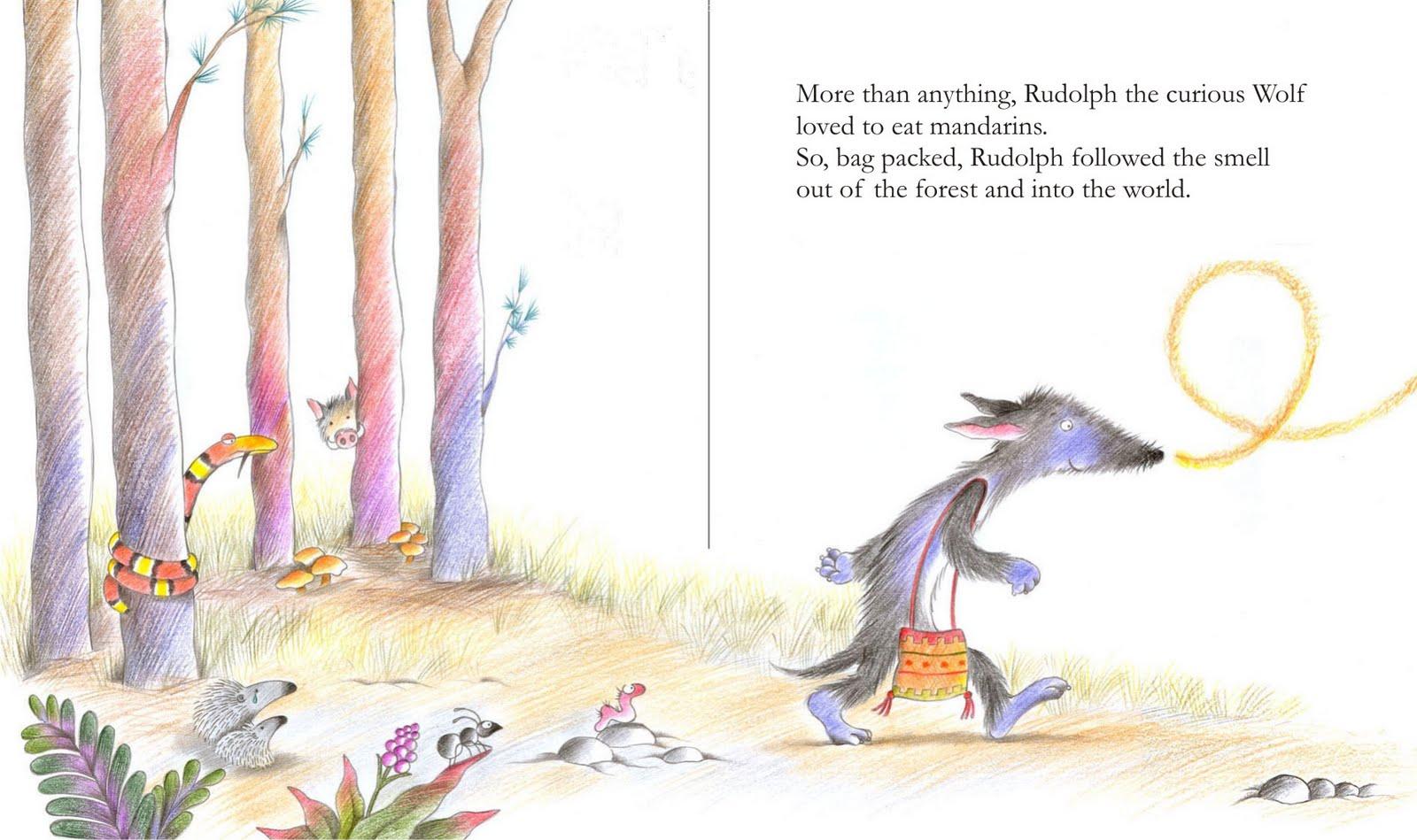 Nora Hilb - Ilustraciones: El lobo Rodolfo - Rudolph the curious Wolf