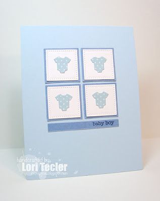 Baby Boy card-designed by Lori Tecler/Inking Aloud-stamps and dies from My Favorite Things