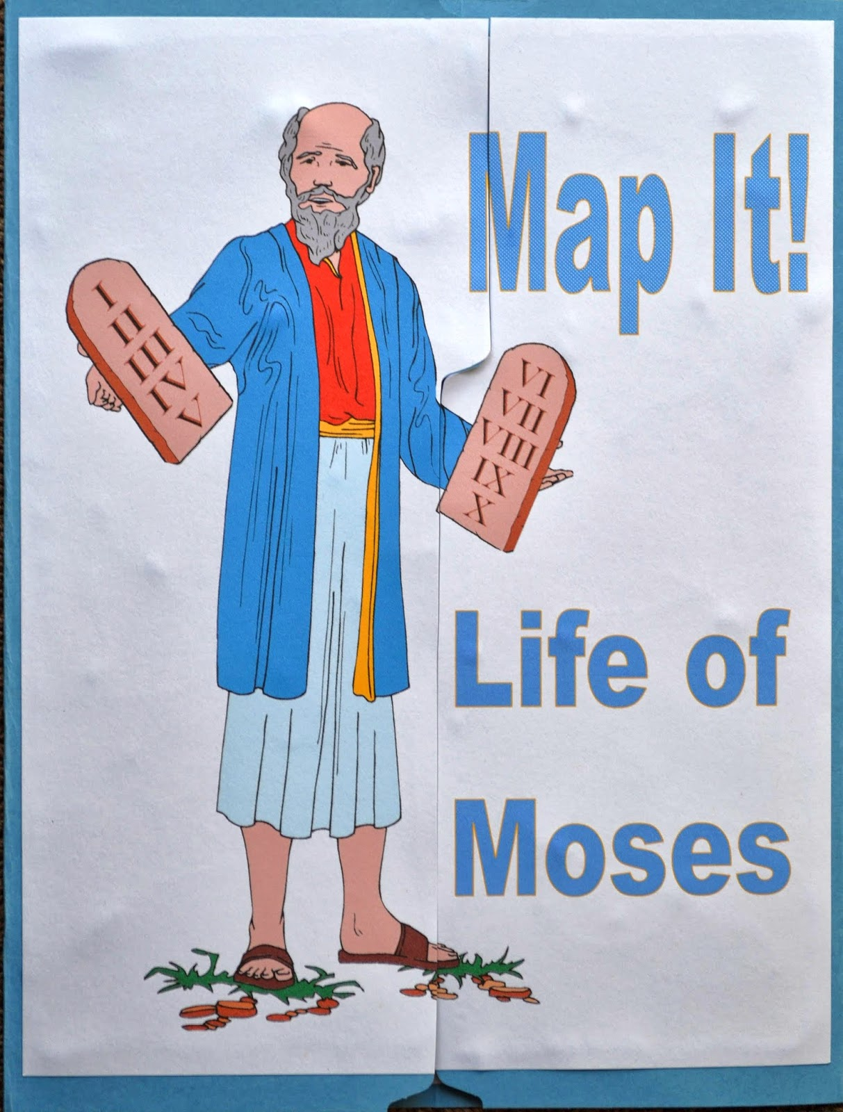 bible fun for kids life of moses map it file folder