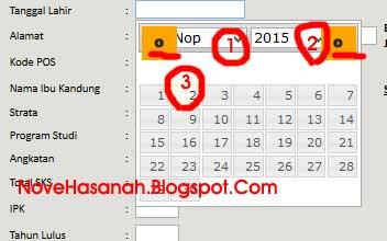 cara memasukkan tanggal untuk mendaftar secara mandiri dan online ke forlap dikti memang sedikit ruwet jika tidak tau caranya