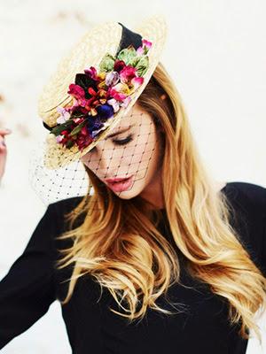 Peinados 2014 con accesorios sombreros