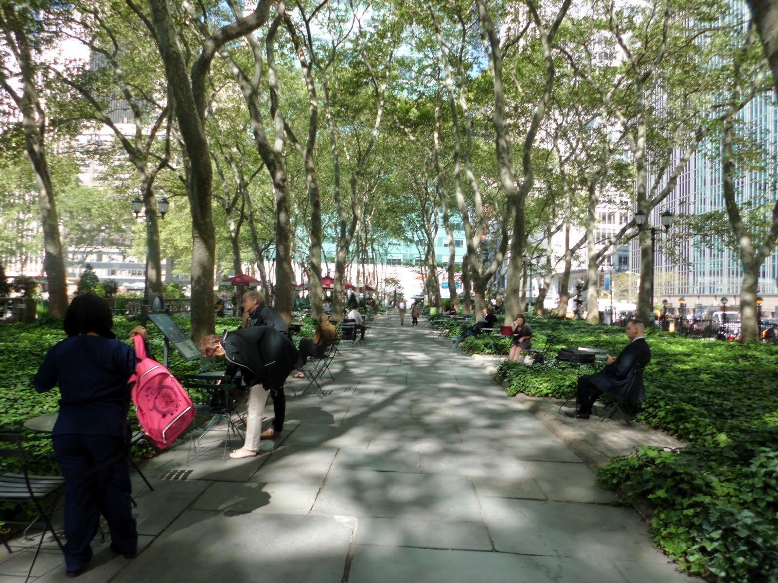 Afternoon View - Bryant Park. Everybody's favorite midtown oasis. Free wifi!
