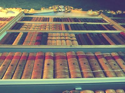 Wrest Park, library, books, bookshelf, English Heritage