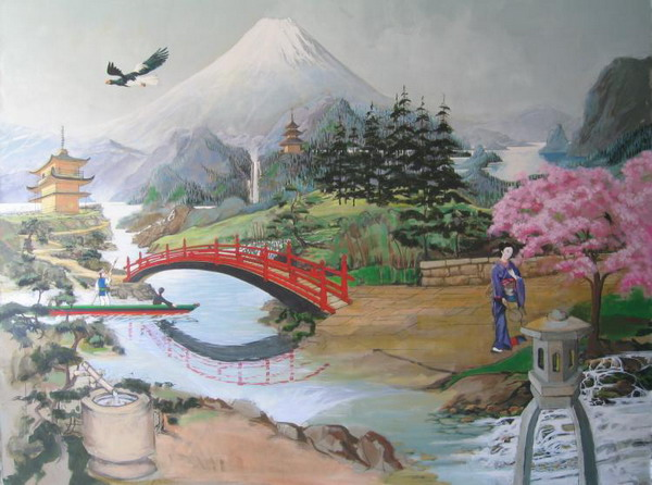 Best japanese wall murals design for Asian wallpaper mural