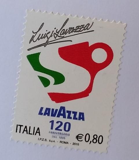francobollo LAVAZZA 120° anniversario