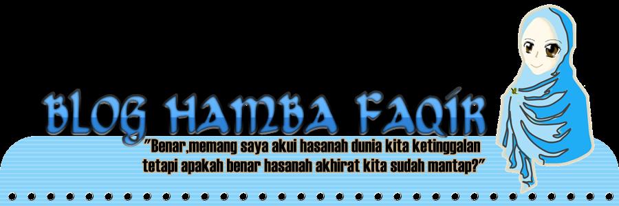BLOG HAMBA FAQIR