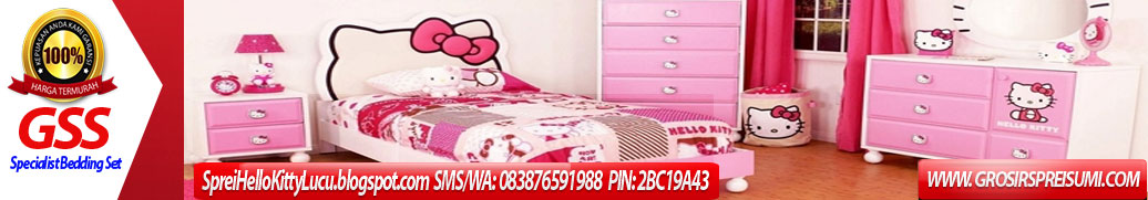 Jual Sprei Hello Kitty Lucu | Supplier Bedcover Hello Kitty
