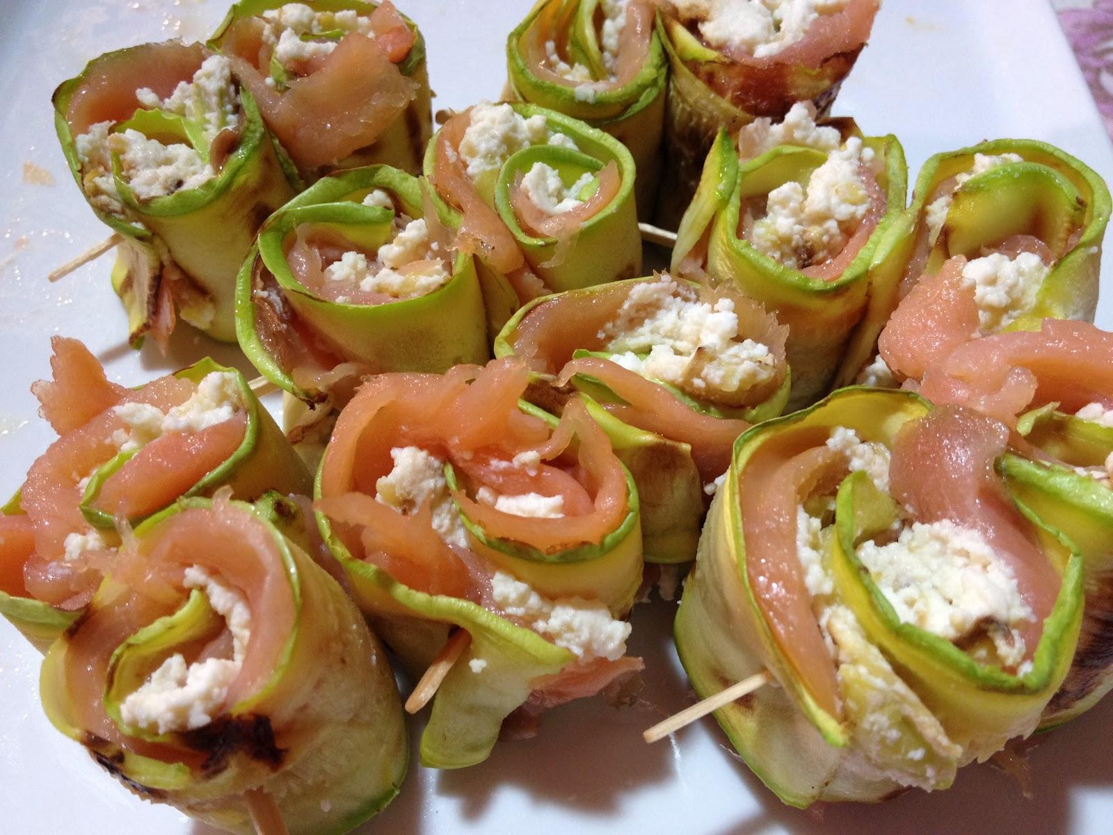 La Mia Cucina Improvvisata Involtini Di Zucchine E Salmone