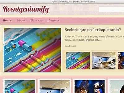 Roentgeniumify - Free Wordpress Theme