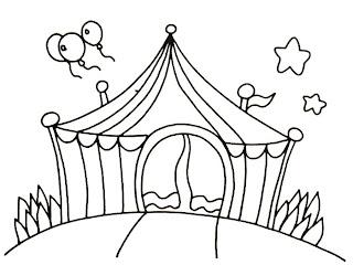 Desenho como desenhar o grande circo   pintar e colorir