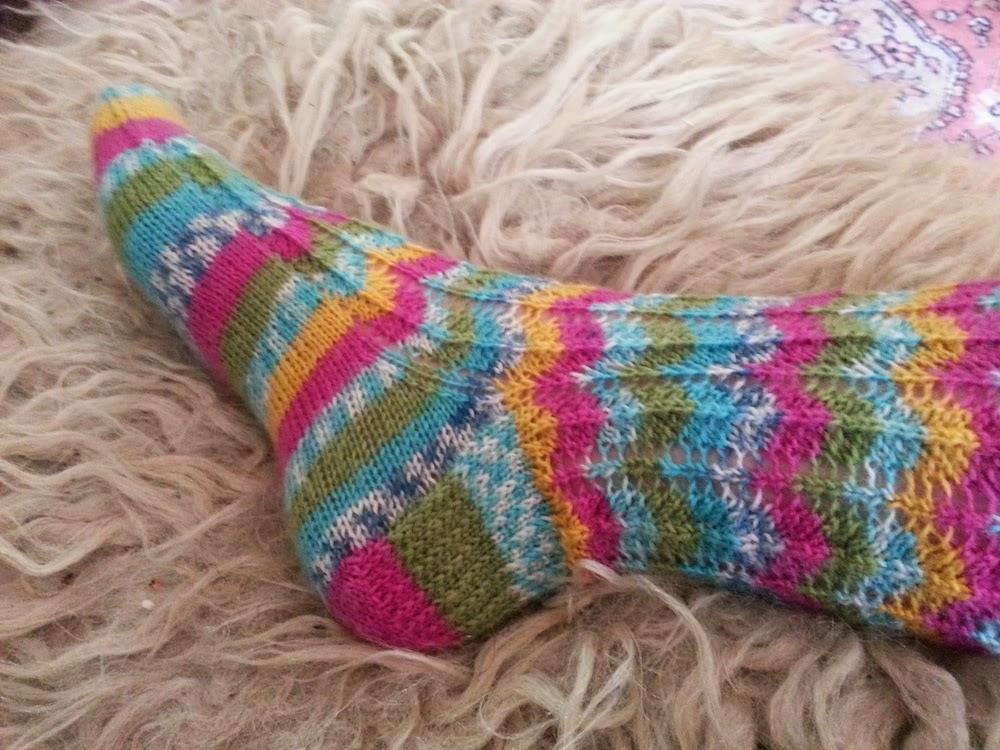 handgebreide sokken Lana Grossa