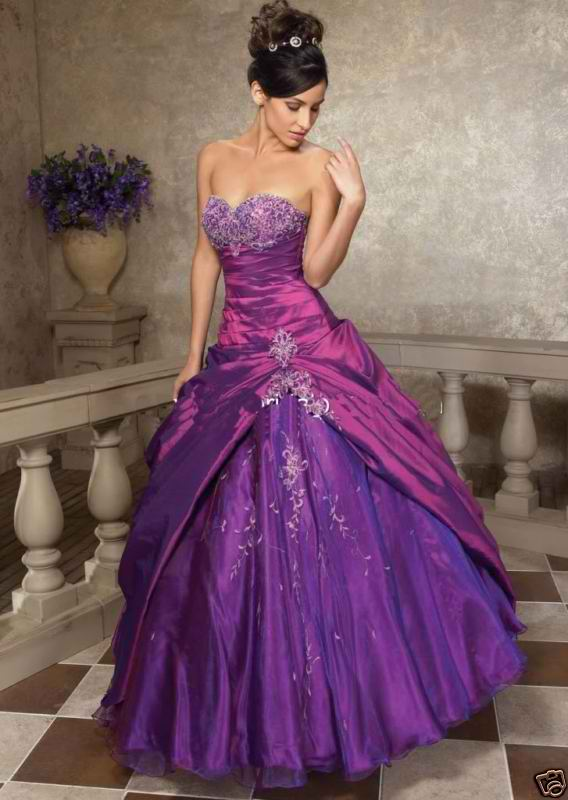Purple wedding dress knitting gallery for Wedding dresses with purple