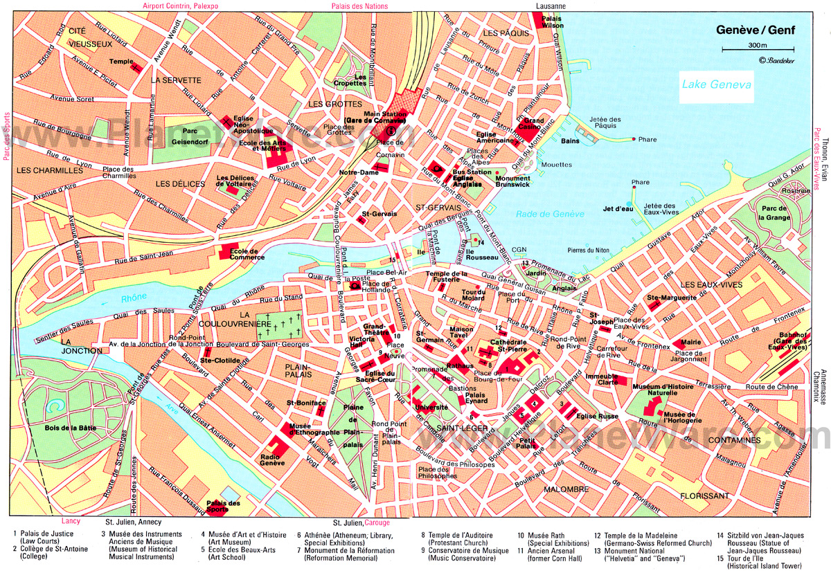 Map Of Geneva Switzerland