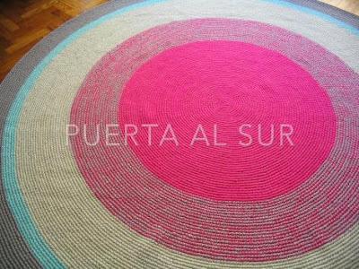 alfombra circular infantil - Alfombras lavables para el cuarto de los chicos