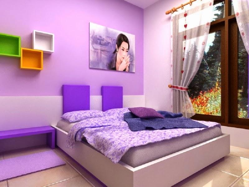 warna kamar tidur ungu 2014