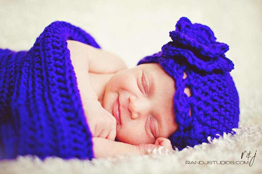 Smiling Baby, Houston Texas Newborn Photography